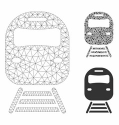 Train mesh 2d model and triangle mosaic vector
