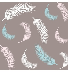 Vintage Feather seamless background Hand drawn vector image
