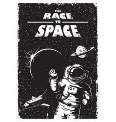 Vintage space poster vector