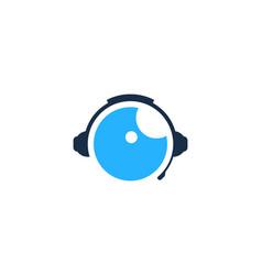 Vision podcast logo icon design vector