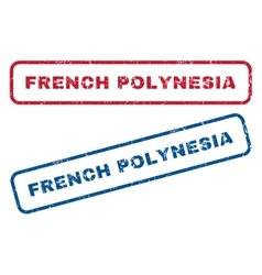 French Polynesia Rubber Stamps vector image vector image