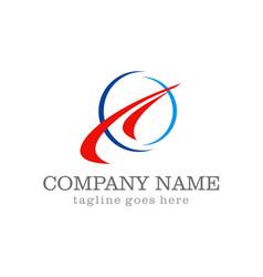 loop arrow abstract company logo vector image