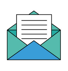 paper envelopes opened with sheet vector image