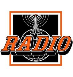 Radio broadcast logo vector