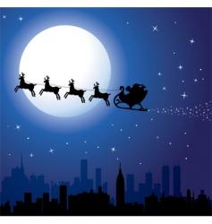 Santa background vector image vector image