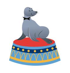 sealion cartoon animal icon vector image vector image
