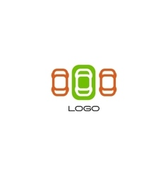 Set of isolated colorful devices Simple vector image