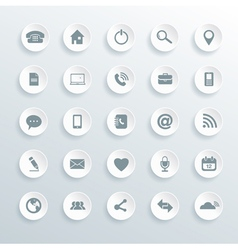 Universal Outline Icons For Web and Mobile vector image vector image