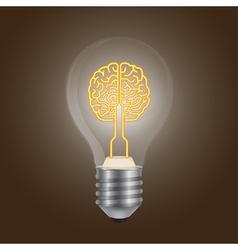 Brain lamp vector