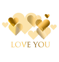 for holiday design many gold and black hearts on vector image vector image