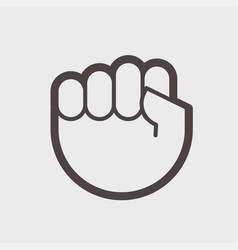 gesture hand clenched into a fist a symbol of vector image vector image