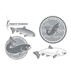 trout fishing vector image vector image