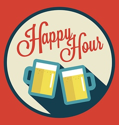 happy hour with beer vector image vector image