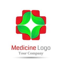 Medical health-care Volume Logo Colorful 3d Design vector image