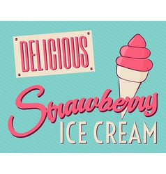 Retro Style Ice Cream Card vector image