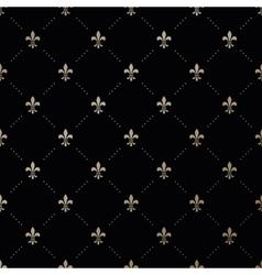 Seamless gold pattern with Fleur-de-lis vector image