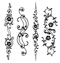 swirling ornament vector image vector image