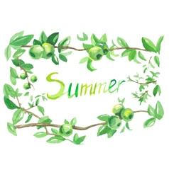 watercolor summer vector image vector image
