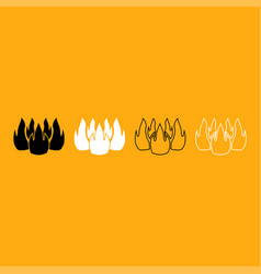 fire it is white icon vector image vector image