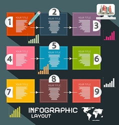 Infographics Template Paper Infographic Layout vector image vector image