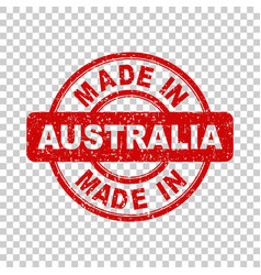 Made in australia red stamp on isolated background vector