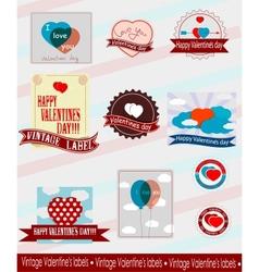 Valentines logos vector image