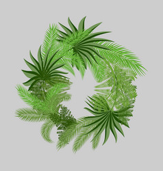 a wreath of two types of palm branches vector image
