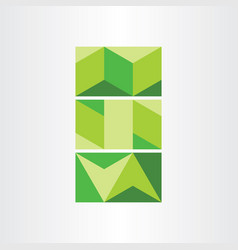 abstract geometric green background vector image