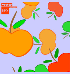 apple frame card design with apple and leaf vector image