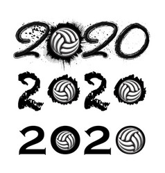 ball 2020 new year numbers vector image