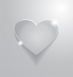 Beautiful grey heart sign vector