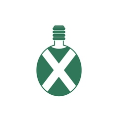 Camping flask icon Tourist bottle isolated vector