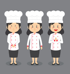Chef character with various expression vector