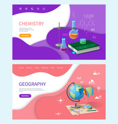 Chemistry lessons substances in tubes research vector