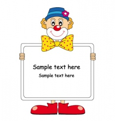 Clown text vector