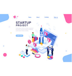 company homepage template vector image