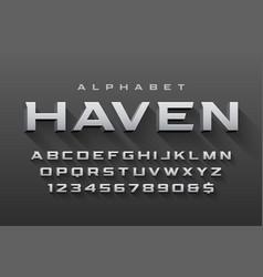 condensed original display font design vector image