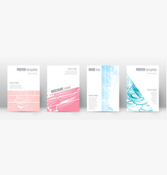 Cover page design template geometric brochure lay vector
