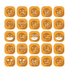 Emoticons flat icons smile with a beard vector