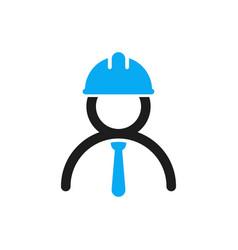 Engineer icon stylized logo of human vector