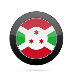 Flag of burundi shiny black round button vector