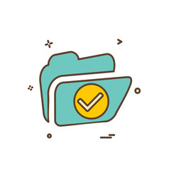 Folder icon design vector