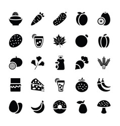 food and gifts icons vector image