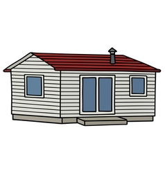Funny white mobilhome vector