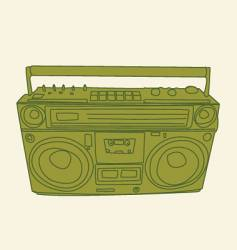 ghetto-blaster vector image