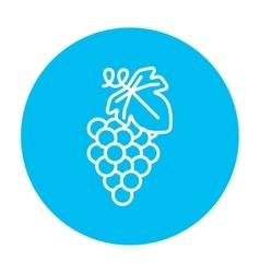 Grape line icon vector
