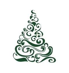 Graphical Christmas tree vector image
