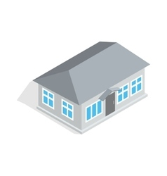 Gray house icon isometric 3d style vector