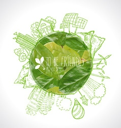 Green Eco Earth Ecology concept vector