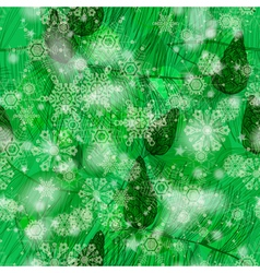 Grunge green winter seamless pattern vector image